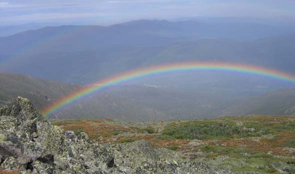Rainbow over King Ravine (photo by Mark Malnati)