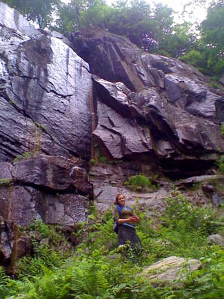 Some ledges of Frankenstein Cliffs (photo by Bill Mahony)