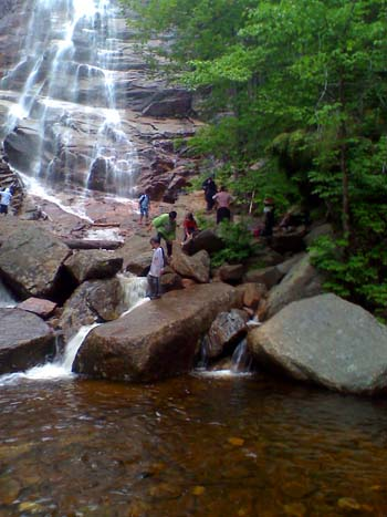 A pool at the base of Arethusa Falls (photo by Bill Mahony)