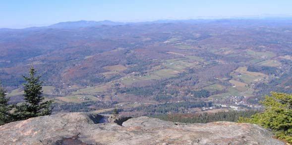View from Brownsville Rock (photo by Mark Malnati)