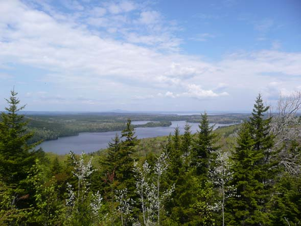 Long Pond and beyond, from Beech Mountain Trail (photo by Chip Lary)