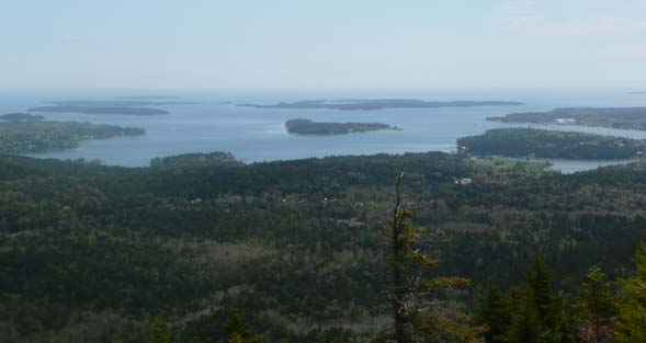 Cranberry Islands from the summit of Beech Mountain (photo by Chip Lary)