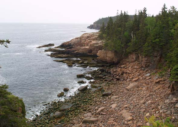 View of Atlantic shoreline from Ocean Path (photo by Webmaster)