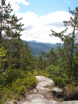 View from ledges on the east side of Blueberry Mtn. (photo by Webmaster)