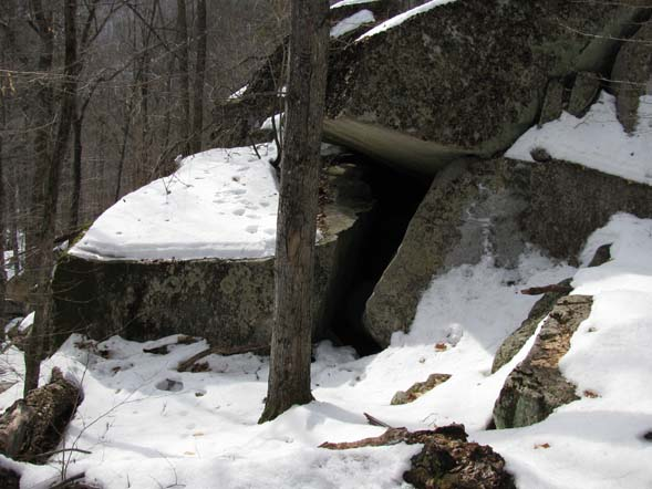 Boulder cave (photo by Karl Searl)