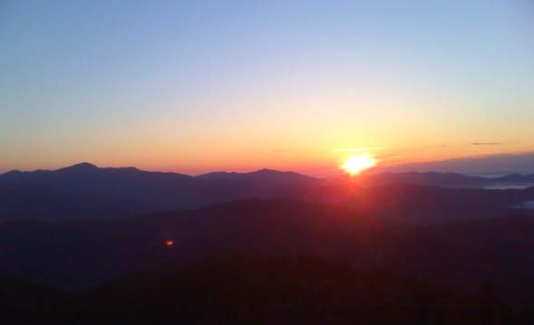 Sunrise from the summit of Mount Carrigain (photo by Bill Mahony)