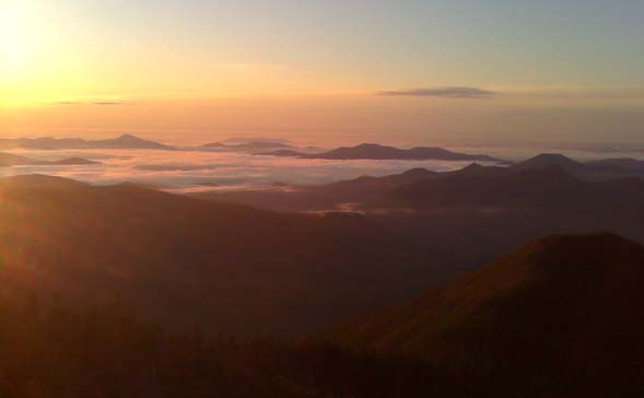 View from Mount Carrigain at sunrise (photo by Bill Mahony)