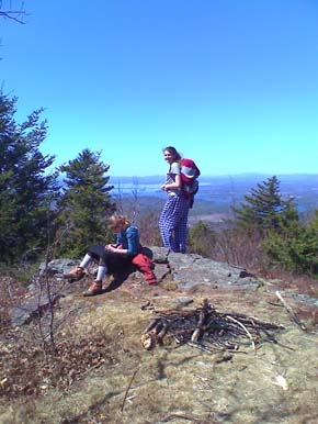 At the summit of Copple Crown (photo by Bill Mahony)