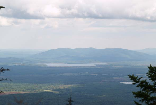 Pleasant Mountain with Pleasant Pond in front of it (photo by Webmaster)