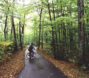 Bike path in Franconia Notch (photo by Ben Kimball)