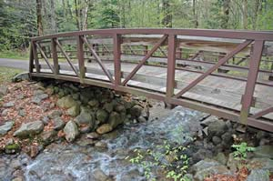 Bridge along the Franconia Notch bike path (photo by Ben Kimball)