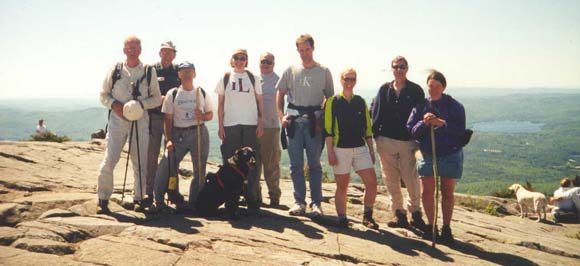 SDHers on Mount Kearsarge summit (photo by Webmaster)