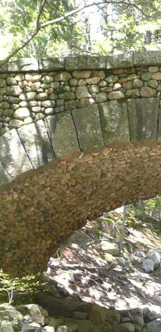 Close-up of the cobblestone bridge (photo by Chip Lary)