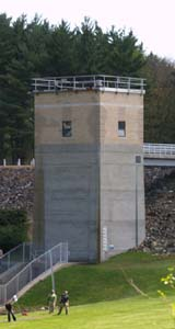 The tower at Barre Falls Dam (photo by Webmaster)