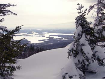 Squam Lake from Mount Morgan (photo by Mary Sheldon)
