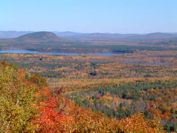Mount Tom and Lovewell Pond (photo by Chip Lary)