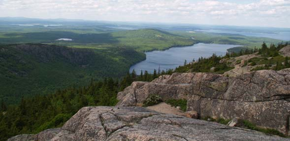 View of Eagle Lake and beyond from Pemetic Mountain's summit (photo by Webmaster)