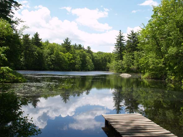 Echo Pond as seen from the northern shoreline (photo by Webmaster)