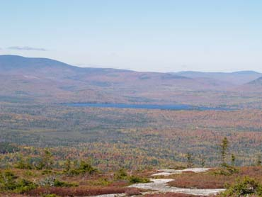 View of lake from summit slabs (photo by Webmaster)