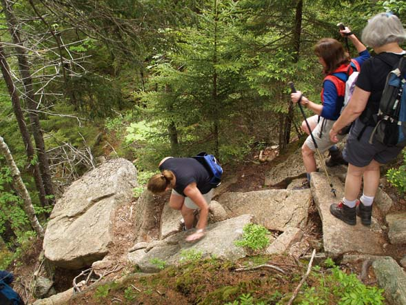 Steep descent from Parkman Mountain (photo by Webmaster)