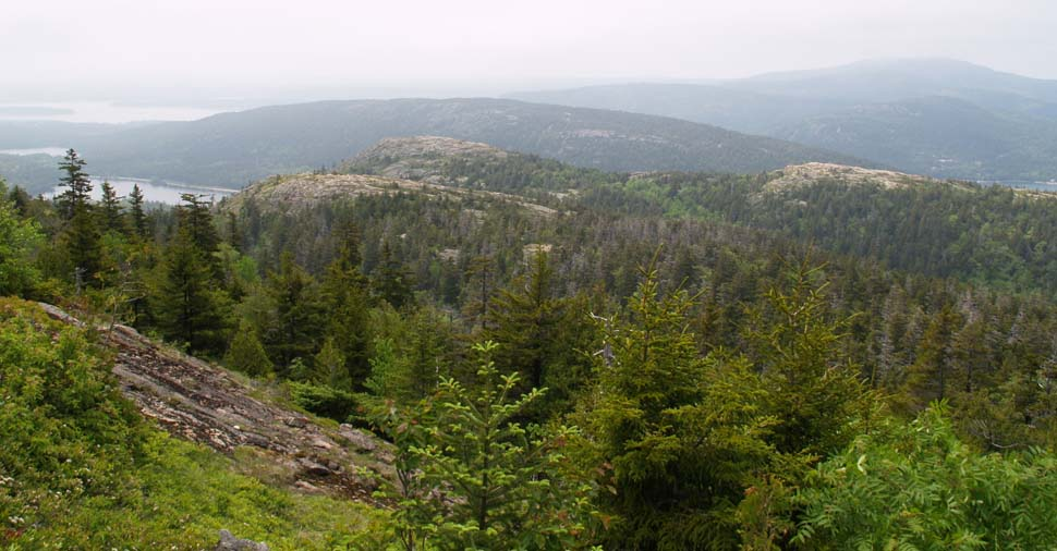 View of Gilmore Peak, Parkman Mtn., and Bald Peak from Sargent Mtn. (photo by Webmaster)