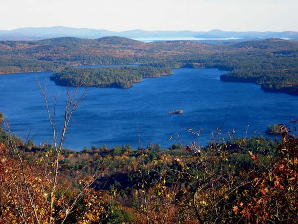 Squam Lake as seen from Cotton Mountain (photo by Mike Dickerman)