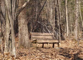The first bench (photo by Webmaster)