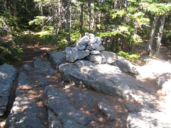 Summit cairn on the top of Mount Tecumseh (photo by Karl Searl)