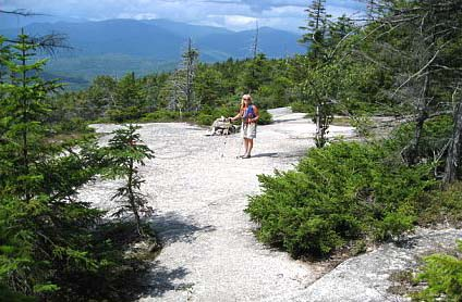 Trail across slabs (photo by Sue Murphy)