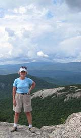 Sue on the ledges (photo by Sue Murphy)