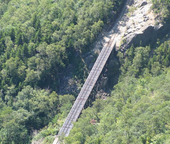 View of railway bridge taken from the summit (photo by Karl Searl)