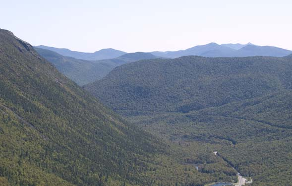 View of Crawford Notch and beyond from the cliffs of Mount Willard (photo by Webmaster)