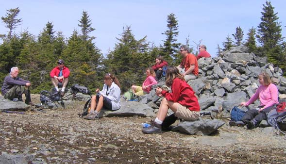 Lunch on Mount Hale's summit (photo by Mark Malnati)