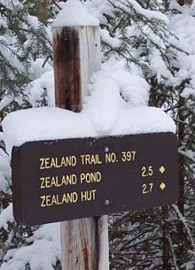 Zealand Trailhead sign (photo by Rachel Bowles)