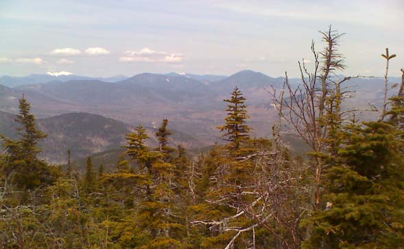 Looking west from an outlook near Mt. Passaconaway's summit (photo by Bill Mahony)